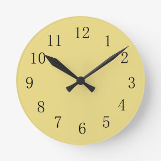 Flax Yellow Kitchen Wall Clock