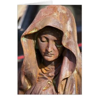 Flea Market Card - Hooded Female Statue