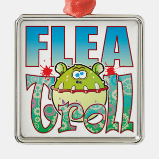 Flea Troll Metal Ornament