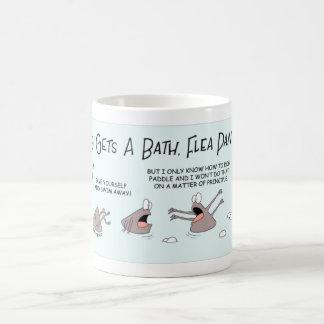 Fleas in a flea bath coffee mug