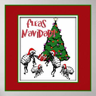 FLEAS NAVIDAD - Christmas Fleas and Christmas Tree Print