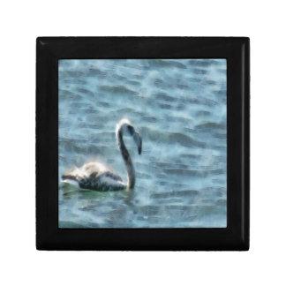 Fledgling Flamingo At Sea Watercolor Gift Box