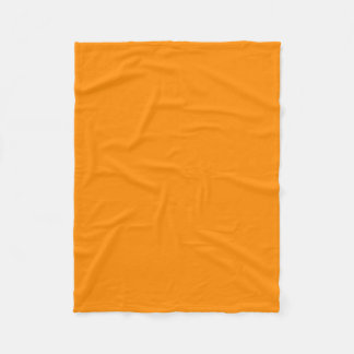 "Fleece Blanket 30""x40"" - Dark Orange"