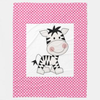 Fleece Blanket/Baby Zebra
