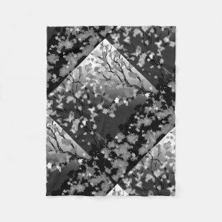 Fleece Blanket black and white design