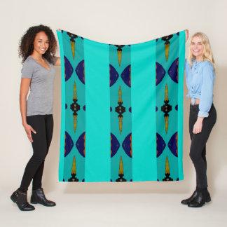 Fleece Blanket- Home - Blue/Aqua/Gold/Red/Brown
