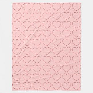Fleece Blanket - Multiple Wire Hearts