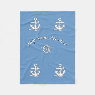 Fleece Blanket - Nautical Theme