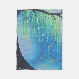 Fleece Blanket- Night Stars & Lightning Bugs