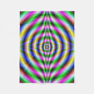 Fleece Blanket  Psychedelic Neon Eye