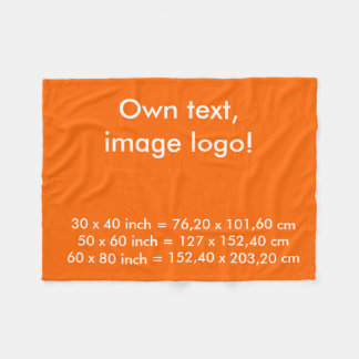 Fleece Blanket uni Orange
