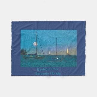 Fleece Blanket Watercolor Photo of Sarasota Bay