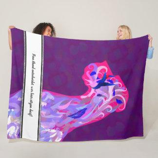 Fleece Blanket with fancy Great Dane illustration