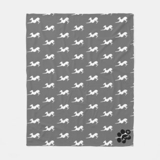 Fleece Blanket with Italian Greyhound