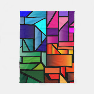 """Fleece Blanket with """"Stained Glass"""" design"""