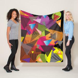 "Fleece Blanket with ""Triangles Fruit Cup"" design"