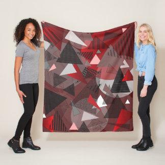 """Fleece Blanket with """"Triangles Garnet"""" design"""