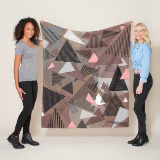 "Fleece Blanket with ""Triangles Sierra"" design"