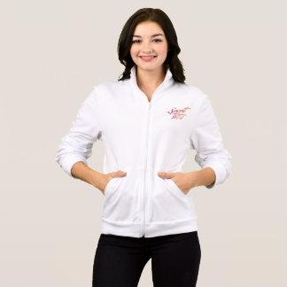 Fleece-lined jacket of jogging with zip F Sport974