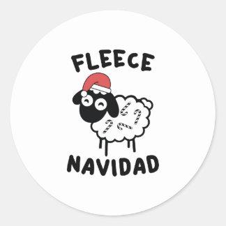 Fleece Navidad Classic Round Sticker