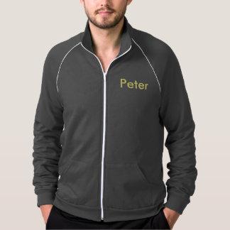 Fleece track jacket in plus size