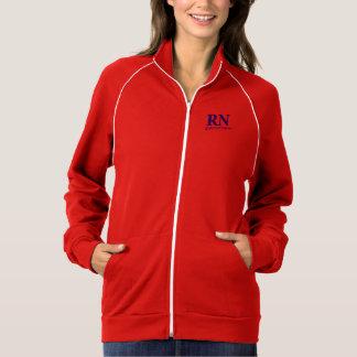 "Fleece track jacket "" Registered Nurse """