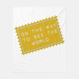 Fleeceblanket on the way ton lake the world baby fleece blanket