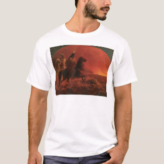 Fleeing a Prairie Fire (1868A) T-Shirt