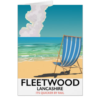 Fleetwood , Lancashire Seaside travel poster Card