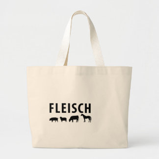 Fleisch icon large tote bag