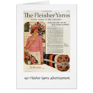 Fleisher Yarns Ad Card