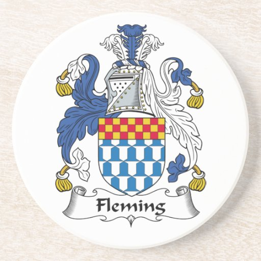 Fleming Family Crest Beverage Coasters