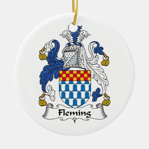 Fleming Family Crest Christmas Ornament