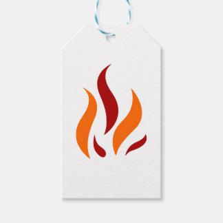 Fleming talk orange gift tags