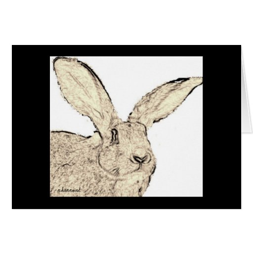 Flemish Giant Rabbit Faces Greeting Card