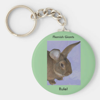 Flemish Giant Rabbit Keychain