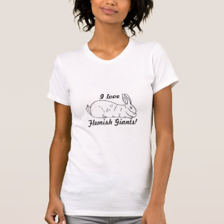 Flemish Giant Rabbit Ladies T-Shirt