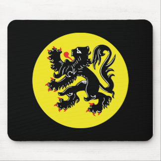 Flemish lion of Flanders mousepad