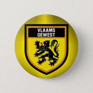 Flemish Region Flag 2 Inch Round Button