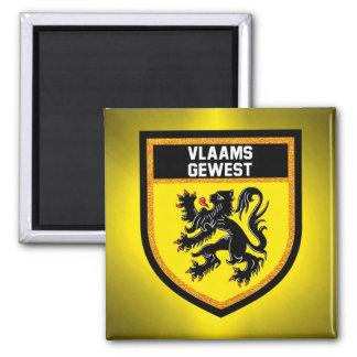 Flemish Region Flag Magnet