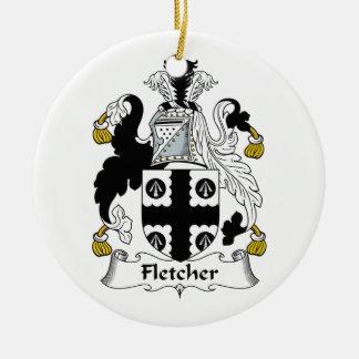 Fletcher Family Crest Ceramic Ornament