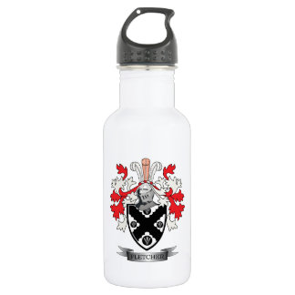 Fletcher Family Crest Coat of Arms 532 Ml Water Bottle