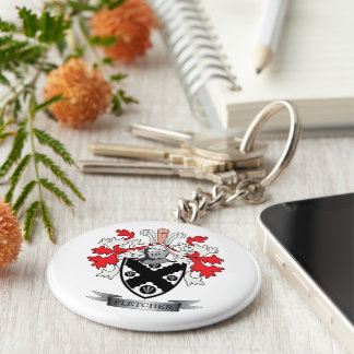 Fletcher Family Crest Coat of Arms Keychain