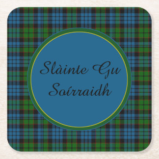 Fletcher Plaid Gaelic Toast Paper Coasters