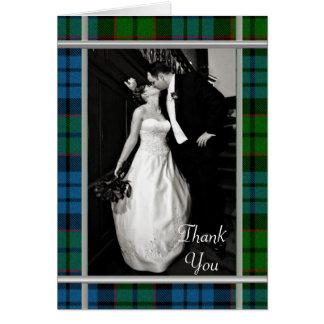 Fletcher Plaid Photo Thank You Card