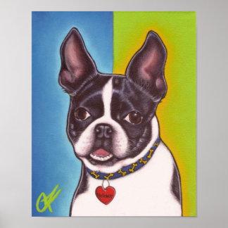 Fletcher the Boston Terrier Poster
