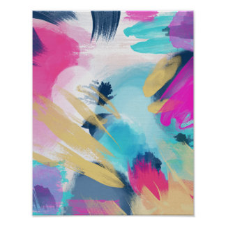 Fleur // Abstract Painting Poster