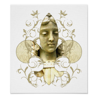 Fleur Angel Statue print