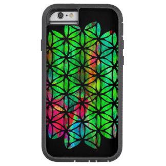 Fleur au néon de cas de la vie coque tough xtreme iPhone 6