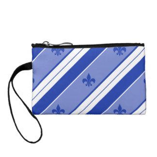 Fleur bleu de lis Stripe Porte-monnaies